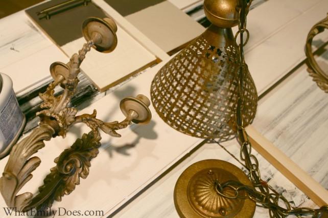 antique brass fixtures
