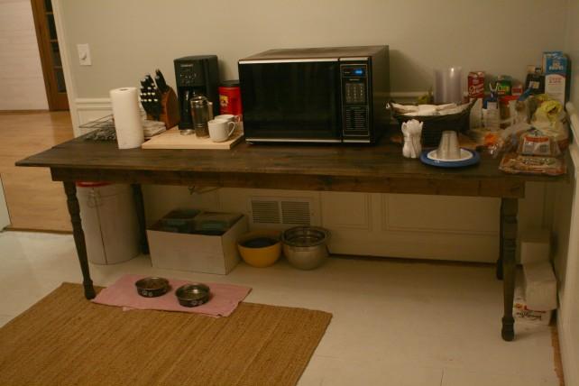 Make-shift Kitchen
