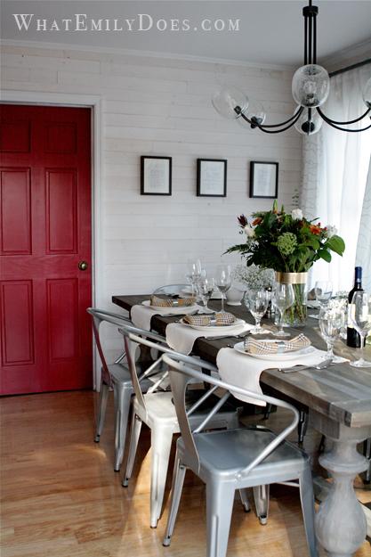 Kitchen After Red door