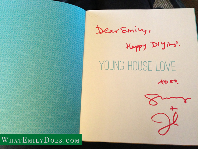 YHL signed book