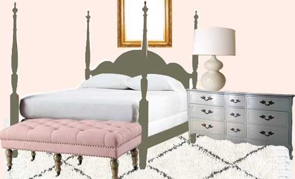 pink room green bed toddler ballet room
